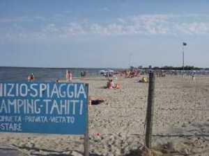 La spiaggia riservata.