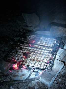 La cottura della carne.